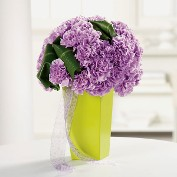 Get Well Pave Carnations in Geometric Vase