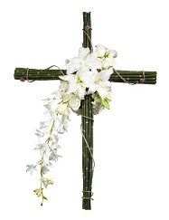 Natural Cross w/ Orchids, Lillies, and Roses