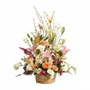 Charming Basket Assortment of Flowers