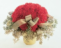 Pave Red Carnations w/ Gold Accents