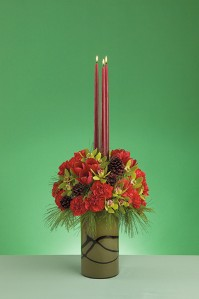 Vertical Holiday Centerpiece