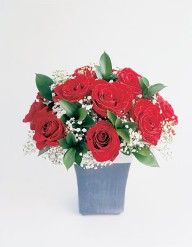 Red Rose Planter